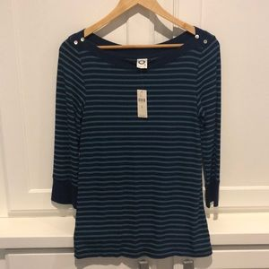 stripped top for Anthropologie Size medium NWT